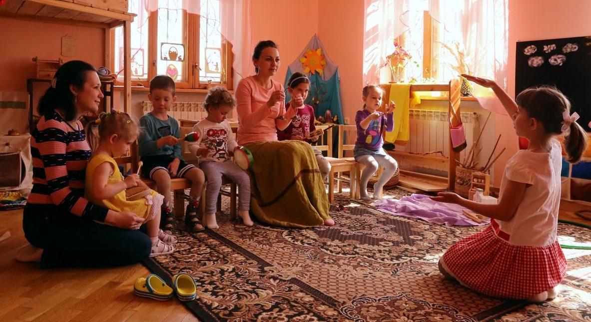 Частный садик - музыкальные занятия
